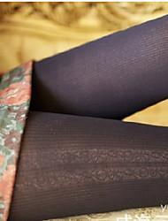 meia-calça de veludo com nervuras
