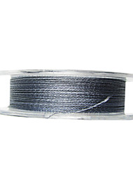 100M / 110 ярдов Леска с полиэтиленовым плетением / Dyneema Рыбацкая леска Серый мох 30LB 0.265 mm Для