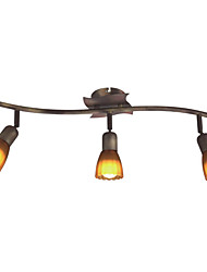 Floral Semi Flush Mount with 3 Light - Downward