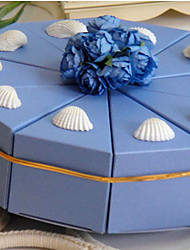 Light Sky Blue Cake Favor Box With Shell (Set of 10)