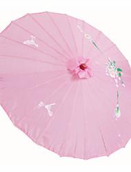 Шелк Вентиляторы и зонтики Пьеса / Установить Зонты Цветы Розовый 48 см высота × 82 см диаметр Высота 48 см