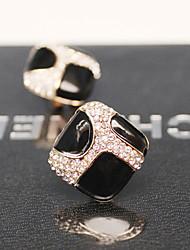 modernos preto jóia brincos do parafuso prisioneiro de instrução