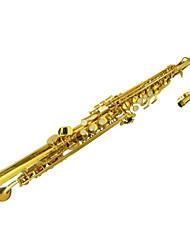 soprano laca ouro saxofone