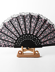 Asian Style Hand Fan With Lace – Set of 4 (More Colors)