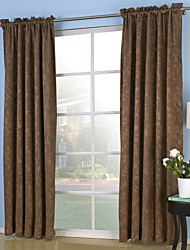 Two Panels Curtain Neoclassical , Solid Bedroom Polyester Material Curtains Drapes Home Decoration For Window