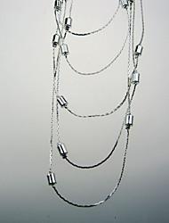 spectaculaire collier chaîne multicouche