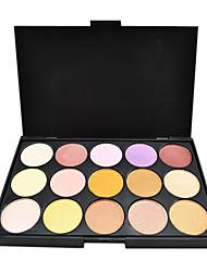 15 couleurs multi-fonction poudre pour les yeux ombre palette de maquillage ombre