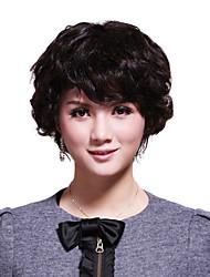 sin tapa corta 100% cabello humano peluca de pelo elegante