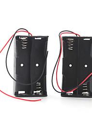 caixa de bateria para quatro baterias 18650 (preto)