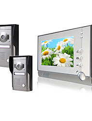 Two Alloy Weatherproof Cover Camera with 7 Inch Monitor  Color Video Door Phone System