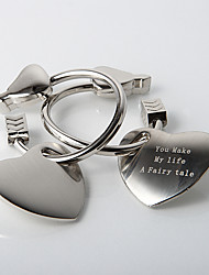 Personalized Heart Shaped Key Ring (Set of 4)