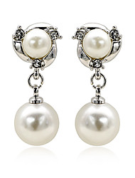 Gilt Classic Pearl Earrings