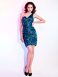Gaine / colonne une épaule sweetheart short / mini sequined holiday robe