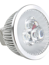Focos Regulable MR16 GU5.3 3.5 W 3 LED de Alta Potencia 190 LM 6500K K Blanco Natural DC 12 V