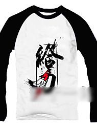 palabras chinas imprimir de manga larga camiseta