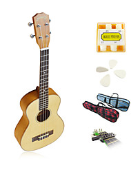 Yadars - Solid Spruce Tenor Ukulele with Gig Bag/Pitch Pipe/Picks/Capo
