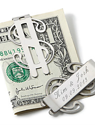 Gift Groomsman Personalized Money Clip – Dollar Sign