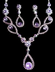 Damen schimmernden Perlenkette und Ohrringe Schmuck-Set (50 cm)
