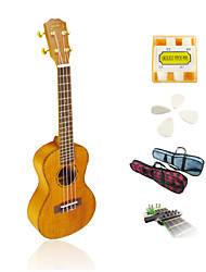 Yadars - High-Grade Solid Mahogany Concert Ukulele with Gig Bag/Pitch Pipe/Picks/Capo