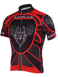 KOOPLUS Vélo/Cyclisme Maillot / Hauts/Tops Homme Manches courtes Respirable / Séchage rapide Polyester Rayure NoirXS / S / M / L / XL /