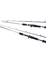alto teor de carbono meio-pesado (mh) 2 seções de fundição isca vara de pesca 180/210cm)