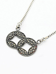 Luxurious Sterling Silver Chinese Copper Cash Ladies' Necklace