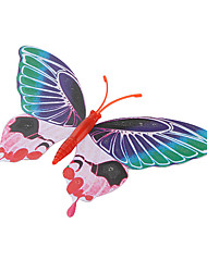 Fluorescent Butterfly Shaped Fridge Magnet (Random Color)