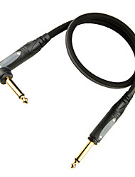 Soft, Flexible, Low attenuation, Micro-bubbles Guitar Cable with Plastic Plug in 6 meter
