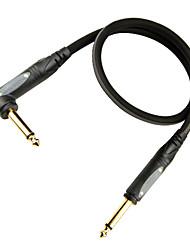 мягкий, гибкий, малое затухание, микро-пузырьков гитарный кабель с пластиковой заглушкой на 6 метров