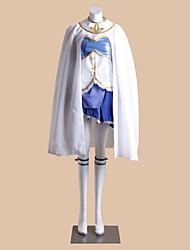 Inspirado por Puella Magi Madoka Magica Sayaka Miki Anime Fantasias de Cosplay Ternos de Cosplay Patchwork Branco Sem MangasCapa / Colete