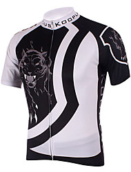 Kooplus Cycling Jersey Men's Short Sleeve Bike Breathable Quick Dry Jersey Tops Polyester 100% Polyester Spring Summer Cycling/Bike