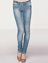 low-rise-String Skinny Jeans Hose