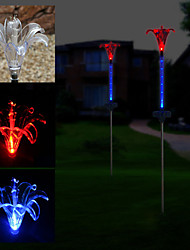2 LED Solar Powered Lily Flower Garden Stake Light-Color Changing