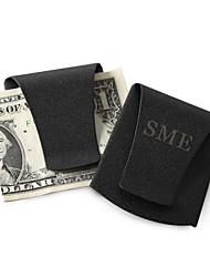 Gift Groomsman Personalized Smart Money Clip - Matte Black