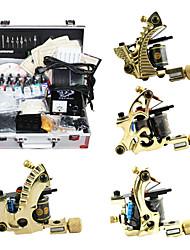 4 kit de tatouage armes en cuivre avec 14 d'encre couleur