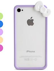 Biltoon Stil Bag Cover til iPhone 4 og 4S (Blandede farver)