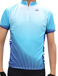 JAGGAD Bike/Cycling Jersey / Tops Men's Short Sleeve Breathable / Quick Dry Polyester Green / Blue S / M / L / XL / XXL Cycling/Bike