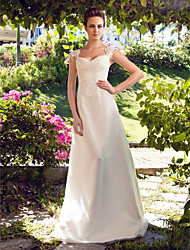 Lanting Bride® A-line / Princess Petite / Plus Sizes Wedding Dress - Classic & Timeless Floor-length Sweetheart Satin / Tulle with