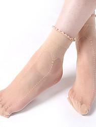 faixas verticais de mauricinho elegantes mulheres meias tripulação