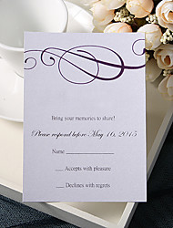 Personalize Wedding Response Cards - Elegance (Set of 50)