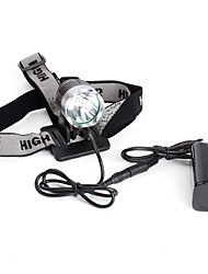 Rechargeable 5-Mode Cree XM-L T6 LED Headlamp (1200 Lumens, Battery Pack)