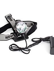 Torcia LED frontale T6 ricaricabile, 5 modalità Cree XM-L (1200 lumen, batteria)