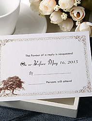 Personalize Wedding Response Cards - Tree (Set of 50)