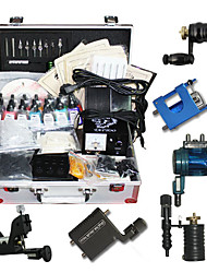 6 Rotary Tattoo Machine Kit with 14 Color Ink