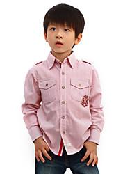 Streifenmuster Langarm T-Shirt