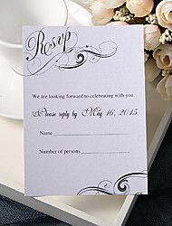 Personalize Wedding Response Cards - Romance (Set of 50)