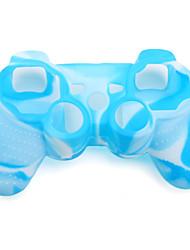 protection étui en silicone à double couleur pour ps3 contrôleur (bleu et blanc)