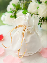 pounch favor bordado com laço de cetim refinado (conjunto de 24)