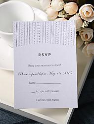 Cartes de réponse Invitations de mariage Carte plate Personnalisé