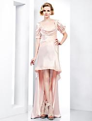 Formal Evening Dress - Pearl Pink Plus Sizes / Petite Sheath/Column Sweetheart Floor-length / Asymmetrical Charmeuse